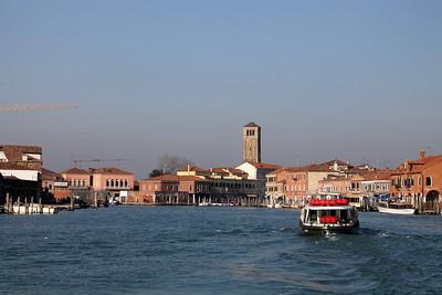Approaching Murano island