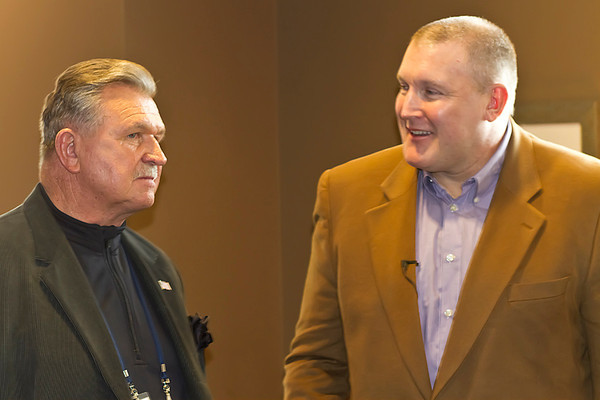 Coach Ditka and Joe Phillips