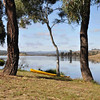 6 hour multisport rogaine at Googong Dam (I did admin with David B), NSW, 3/4/11<br /> The dam on a beautiful sunny still morning