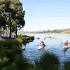 6 hour multisport rogaine at Googong Dam (I did admin with David B), NSW, 3/4/11<br /> Competitors launching and setting off in their boats just after the start