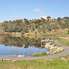 6 hour multisport rogaine at Googong Dam (I did admin with David B), NSW, 3/4/11<br /> The dam on a beautiful sunny still morning (fisherman)