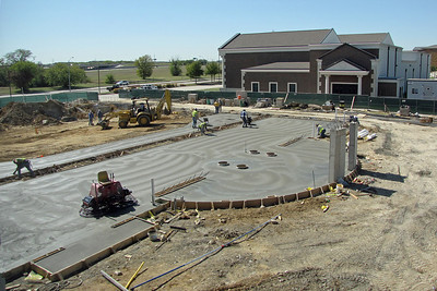 The beginning of the concrete foundation-10/20