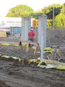 The beginning stages of the monumental staircase.  10/18/2011