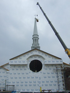 The cross is in place!