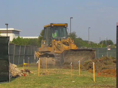 August 3-The dirt is getting moved.