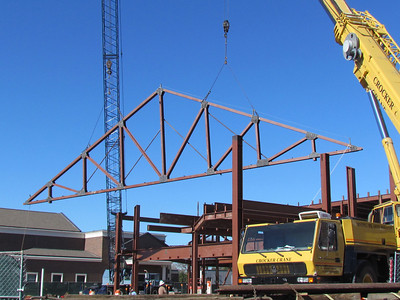 Whoa! Southside truss being erected. 12/29/11