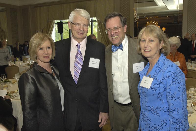 NEHGS Trustee Ginger Koster, Bill Koster, NEHGS Trustee Chris White, and Alice White