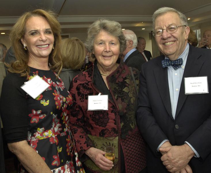Carolyn Lynch, Nancy Coolidge, and David Burnham.