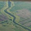 A very large canal running across Eastern North Dakota