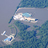 Flooded Casinos along the Mississippi River, South of Memphis near Tunica, MS.