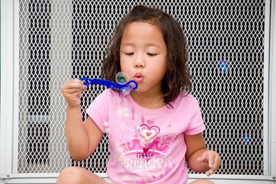 Eliana Blowing Bubbles: September 24, 2011