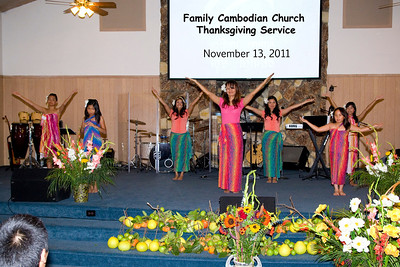 Family Cambodian Church Thanksgiving: November 13, 2011