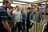 2011, Industrial Design students showing their designs for the Annual Dinner to University Advancement staff, and VP Jack Shannon.