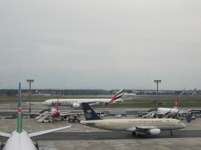 Frankfurt Airport during the afternoon of sunday July 24, 2011.