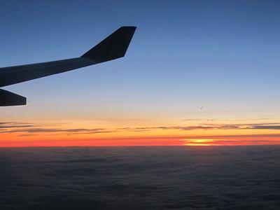 Starting twilight over the Mediterranean.