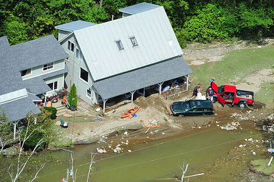 Digging out from the floodwaters in West Bridgewater, VT
