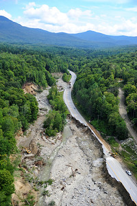 Route 4 between Killington, VT and Mendon, VT completely destroyed