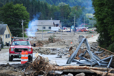 Route 4 : Route 100 South of Killington completely destroyed