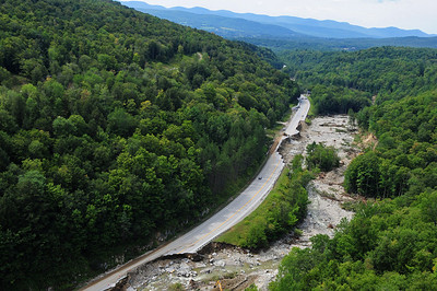 Route 4 between Killington, VT and Mendon, VT completely destroyed  3