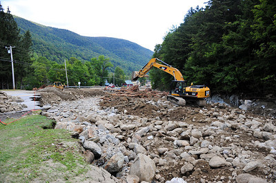 Route 4 : Route 100 South of Killington was impassible up until Wednesday morning where they opened it for two hours to allow people to leave only  It was quickly closed so work could resume on the road