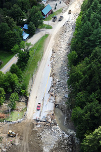 Route 4 : Route 100 South of Killington completely destroyed5