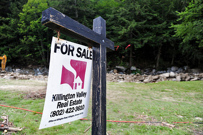 Behind this sign was a house for sale?no trace of it remains