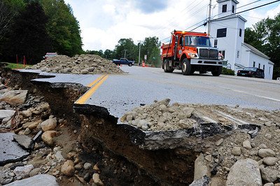 Route 4 : Route 100 South of Killington completely destroyed2
