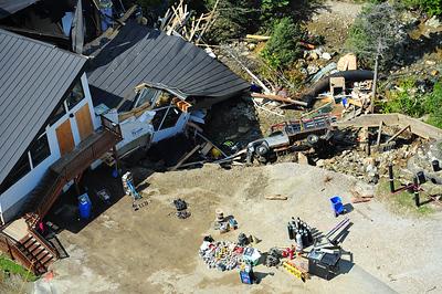 Collapsed base lodge at Killington Ski Area
