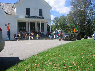 Most of the 60 people up in the Notch gathering outside the historic General Store at the Calvin Coolidge Homestead.