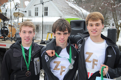 (From Right to Left) Jordan Fields, Josh Bassette, Matt Frates  The 1st, 2nd, and 3rd place finishers for their age division