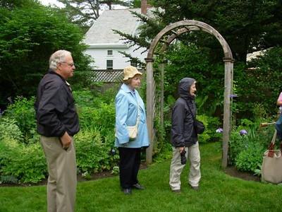 Host Kurt Gerrish with visitors to Gerrish Gardens