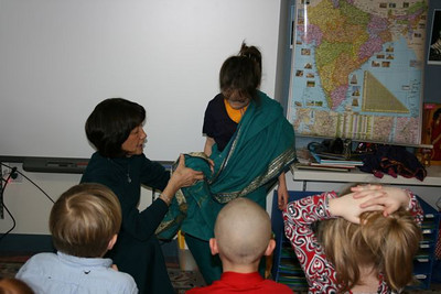 Learning the Indian culture