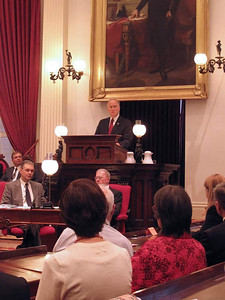 On January 6, 2011 Governor Peter Shumlin took the oath of office and the Vermont Legislature opened its session. Photo by Alison Clarkson.
