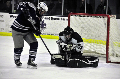 The WUHS Boys Hockey team played a strong game Monday but eventually bowed to U-32, 5-2. Tim Gould Photos