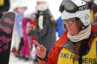 Corinne Little teaches some skiing fundamentals