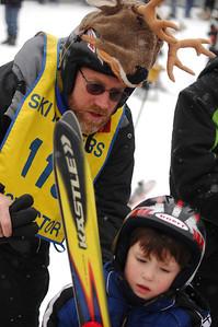 Bruce Staples sports a moose helmet