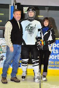 Senior Jordan Camp with parents Greg and Karoline.  Tim Gould photo.