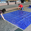 The beginning marking out the 10' square area allowed for the display