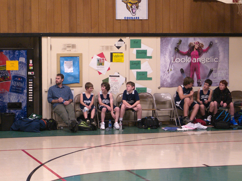 Basketball Game at Butte Falls after fouling out