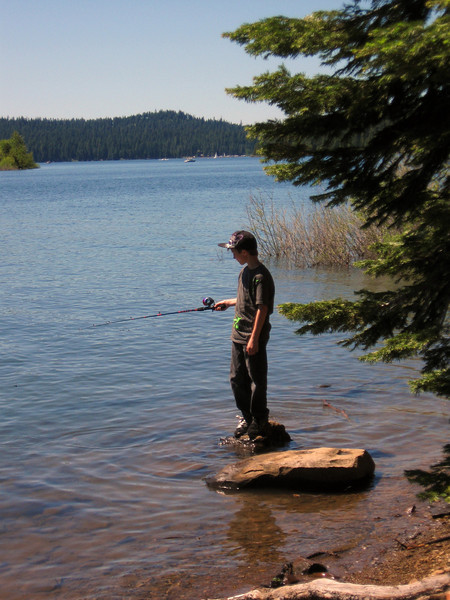 Fishing at Howard Prairie Lake, Oregon