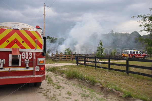 06282011 Brush/Structure Fire, Mars Old Field Ln, Colleton, SC