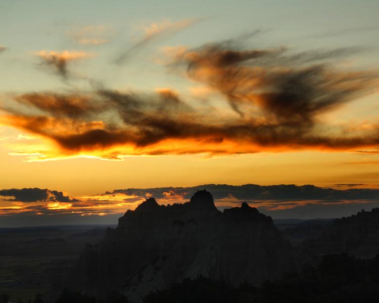 "Badlands National Park: Diamonte, 16 - ""Sky on Fire"""