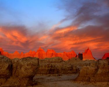 "Badlands National Park: Diamonte, 17 - ""Badlands Sunrise"""