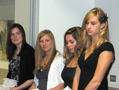2010-11 SCSU Seniors: Ashley Nixon, Courtney Josefson, Diana Karouzos, Alecia Anderson