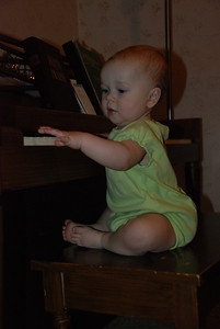 The budding Pianist....
