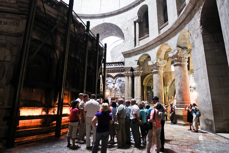 The supposed location of the tomb of Christ.