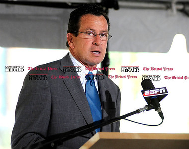 8/2/2011 Mike Orazzi | Staff Connecticut Gov. Daniel P. Malloy during a ground breaking for ESPN's new digital center at 1 ESPN Drive, Bristol on Tuesday afternoon.
