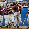 8/12/2010 Mike Orazzi | Staff<br /> New Hampshire's Kobie Taylor (4) celebrates his three run home run during a 10-8 loss to Connecticut in game 25 of the 2010 Eastern Regional Little League Tournament in Bristol, Conn, on Thursday, August 12, 2010.