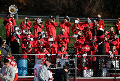 12/3/2011 Mike Orazzi | Staff The Berlin High School band during the Class M Semi Final Football game at Sheehan High School in Wallingford on Saturday.
