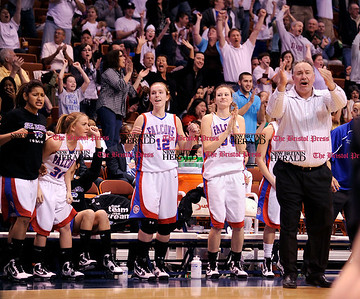 3/20/2010 Mike Orazzi | Staff St. Paul's Joe Mone during the Class S  State Final Girls basketball game held at the Mohegan Sun Arena on Saturday, March 20, 2010.